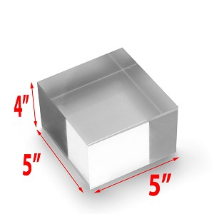 Solid Acrylic Blocks - 4 x 5 x 5