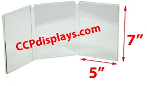 Triple Panel Acrylic Sign Holder - 5 x 7